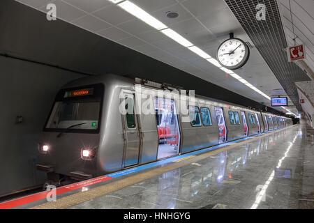 ISTANBUL, TURKEY - JULY 21 2014: Istanbul Metro - Stock Photo