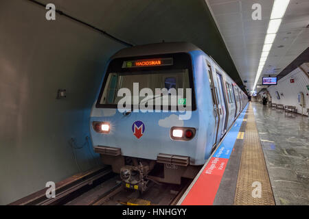 ISTANBUL, TURKEY - JULY 21 2014: Istanbul Metro; Shutterstock ID 251595922 - Stock Photo