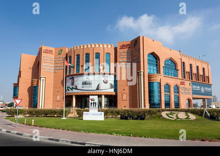DUBAI, UAE - DEC 7, 2016: Mohammed Bin Rashid Humanitarian and Charity Establishment building in Dubai, United Arab - Stock Photo