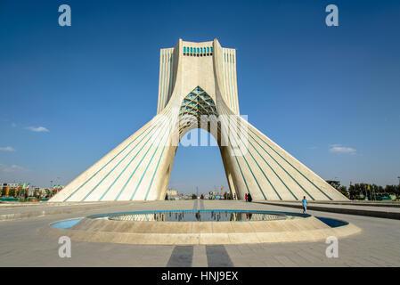 ... TEHRAN, IRAN   OCTOBER 02, 2014: Azadi Tower In The Iranian Capital  Tehran