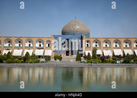 ISFAHAN, IRAN - AUG 29, 2016: Sheikh Lotfollah Mosque east of Naqsh-e Jahan Square, Isfahan - one of the UNESCO - Stock Photo