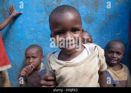 Children in the orphanage, Kibera slums, Nairobi, Kenya, East Africa - Stock Photo