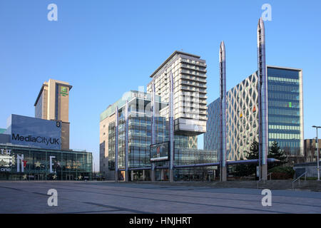BBC & ITV studio's at MediaCityUK, Salford, England, UK - Stock Photo