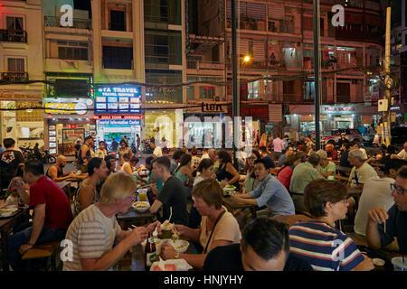 Ben Thanh Street Food Market, Ho Chi Minh City (Saigon), Vietnam - Stock Photo
