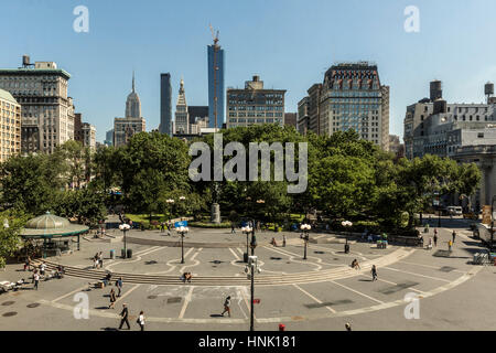 Union Square. Aug, 2016. New York City, U.S.A. - Stock Photo
