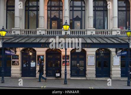 Exterior of the Garrick Theatre at Charing Cross Road in central London on 14th February 2017. - Stock Photo