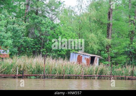 Swamp shack near New Orleans, Louisiana - Stock Photo