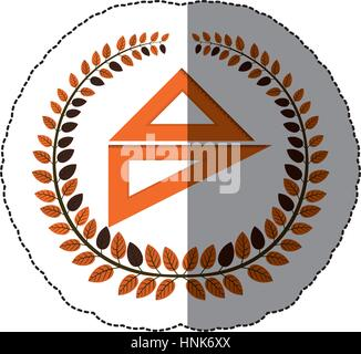 symbol geometric ruler measuring icon, vector illustration image - Stock Photo