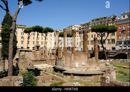 italy, rome, area sacra of largo di torre argentina, temple B (2nd century BC) - Stock Photo