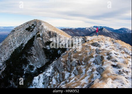 Hiking on Velebit mountain, Croatia - Stock Photo