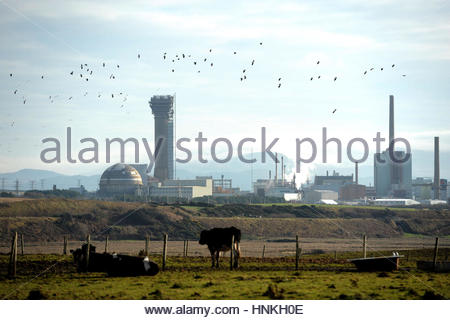 File photo dated 16/11/10 of Sellafield nuclear plant in Seascale, Cumbria. Union leaders have demanded clarity - Stock Photo