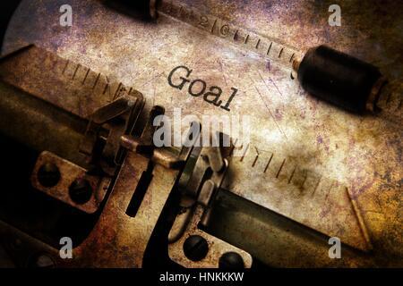 Goal text on vintage  typewriter - Stock Photo