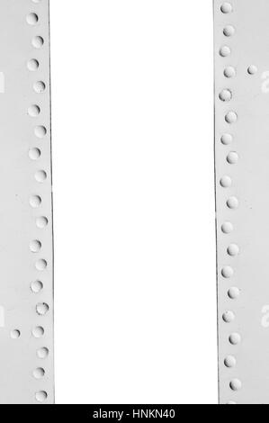 metal frame with rivets and space for text - Stock Photo