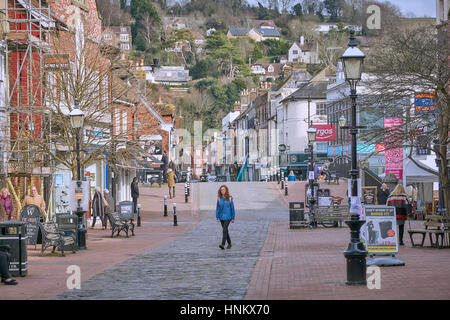 The Cliff High Street, Lewes, East Sussex - Stock Photo