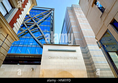 London, England, UK. Cannon Bridge House or The River Building EC4 (1991) office buildings - Stock Photo