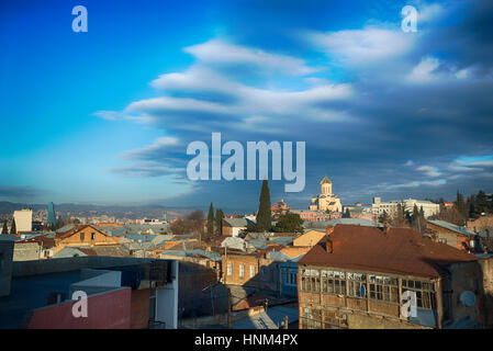 panoramic view of Tbilisi - Stock Photo