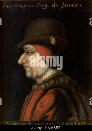 Louis XI of France (1423-1483), The Prudent. House of Valois. Portrait. Anonymous author. - Stock Photo