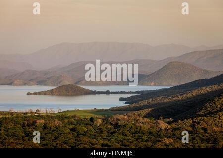 Sunset Over Lake Abaya, Nechisar National Park, Arba Minch, Ethiopia - Stock Photo