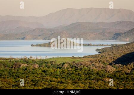Lake Abaya, Nechisar National Park, Arba Minch, Ethiopia - Stock Photo