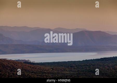 Lake Chamo, Nechisar National Park, Arba Minch, Ethiopia - Stock Photo