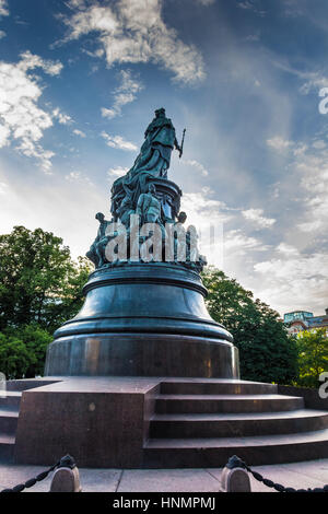 ST. PETERSBURG, RUSSIA - JULY 11, 2016: Monument to Catherine the Great, Saint Petersburg, Russia - Stock Photo