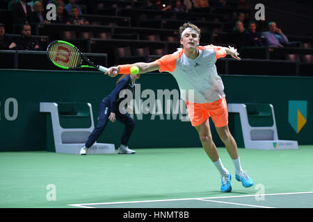 Rotterdam, The Netherlands. 14th Feb, 2017. ABN AMRO World Tennis Tournement ATP 500 World Tour Hardcourt Stefanos - Stock Photo