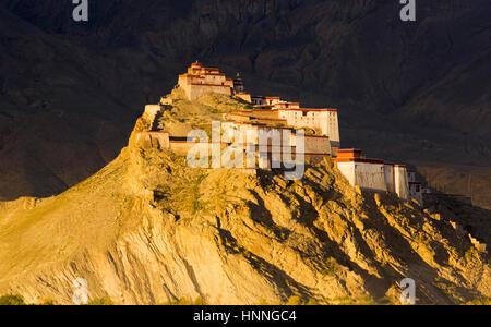 Jiangzi Old Castle of Shigatse Region in Tibet - Stock Photo