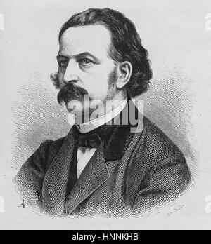 THEODOR FONTANE (1819-1898) German novelist and poet about 1860 - Stock Photo