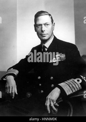 KING GEORGE VI (1895-1952) in the uniform of Admiral of the Fleet about 1945 - Stock Photo