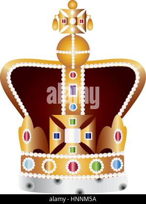 English King And Queen Coronation Crown Jewels Illustration Isolated Stock Vector Image Art Alamy Crown jewels of the united kingdom stock illustration stock photography, noble and beautiful crown of gold material, gold and white crowns illustration png clipart. https www alamy com stock photo english king and queen coronation crown jewels illustration isolated 133857181 html