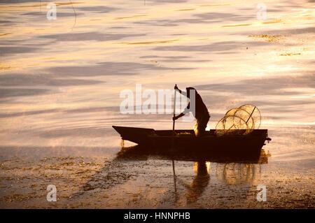 Scenes in Atitlan Lake, Guatemala - Stock Photo