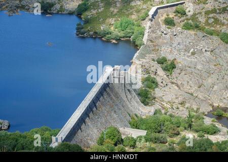 Vega de Tera broken dam in Zamora, Spain - Stock Photo