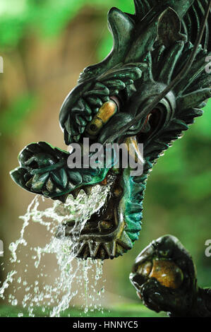Dragon at Chozuya(place for ritual cleansing of hands) - Stock Photo
