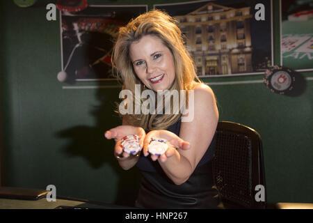 Celebrities attending the Ahoi Party at Ramadan Hotel  Featuring: Michaela Schaffrath Where: Hamburg, Germany When: - Stock Photo