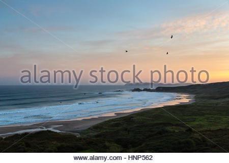 The UNESCO World Heritage Site of the Giant's Causeway in Antrim Plateau, Northern Ireland. - Stock Photo