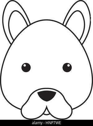 dog drawing face stock vector art illustration vector image