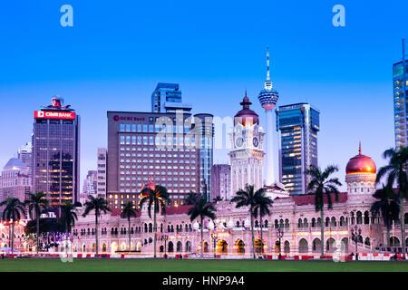 Kuala Lumpur, Malaysia - NOVEMBER 23: Sultan Abdul Samad Building at night on November 23, 2012, Merdeka Square, - Stock Photo