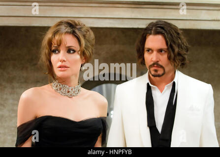 THE TOURIST 2010 GK Films production with Angelina Jolie and Johnny Depp - Stock Photo