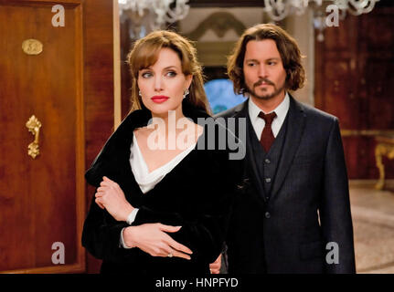 THE TOURIST 2010 GK films production with Angelia Jolie and Johnny Depp - Stock Photo