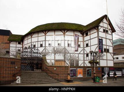 Globe Theatre Bankside London - Stock Photo