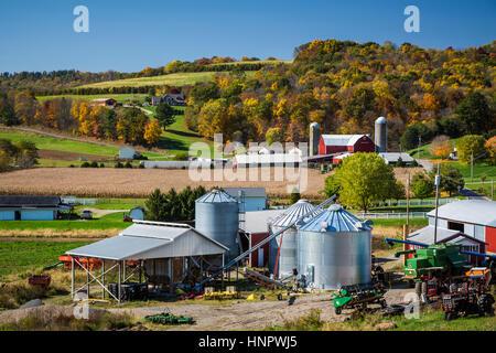 A farm in Coshocton County, Ohio, USA. - Stock Photo