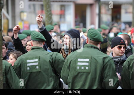 Zweibruecken, Germany - March 20, 2009: Protests against Neo Nazis and right wing extremists - Stock Photo