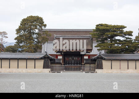 Kyoto Imperial Palace pictured from the  Kyoto Imperial Palace Park. Kyoto, Japan - Stock Photo