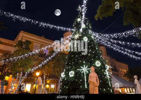 Christmas tree decorations alcaldia city hall plaza de for Acanthus decoration puerto rico