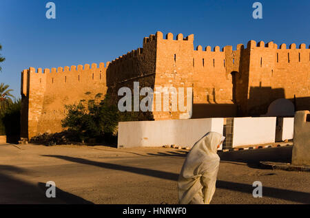 Tunisia.Gafsa. In background the Casbah - Stock Photo