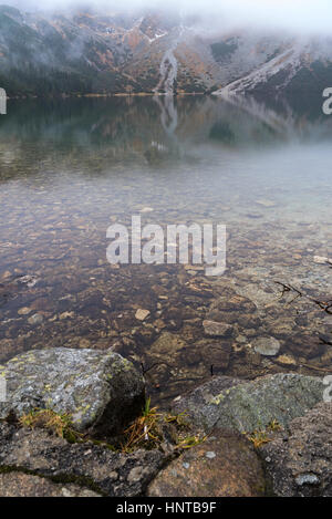mountain to the Morskie Oko lake near Zakopane, Tatra mountains, Poland - Stock Photo