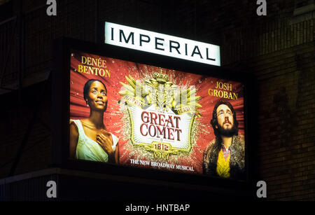 Natasha, Pierre and the Great Comet of 1812, a Broadway musical - Stock Photo