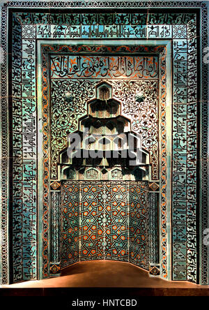 Aleppo room Wall cladding (architectural element) detail Isa bin Butrus, client, - Halab Shah bin'Isa, manufacture, - Stock Photo