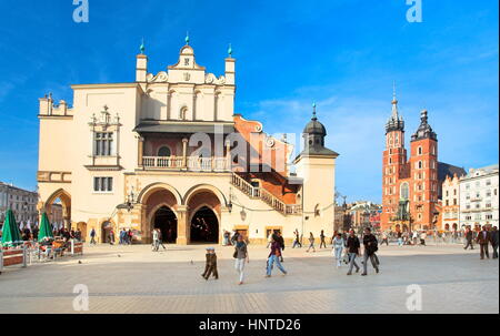 Cloth Hall on the Main Square, Cracow, Poland - Stock Photo