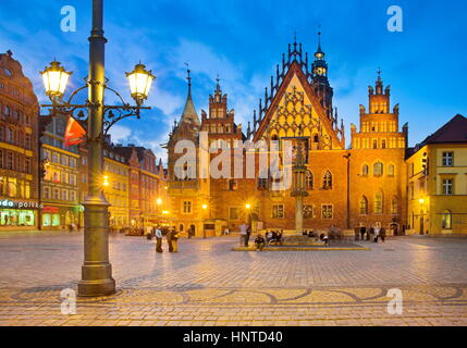 Old Town in Wroclaw, Poland - Stock Photo